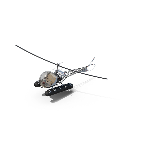 Bell 47 On Floats PNG & PSD Images