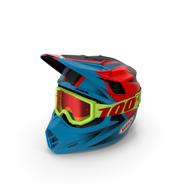 Bell Off-Road Motorcycle Helmet Blue PNG & PSD Images