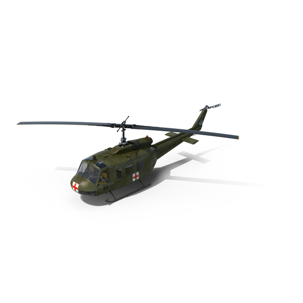 Military Transport Helicopter: Bell UH-1 Iroquois MedEvac Object