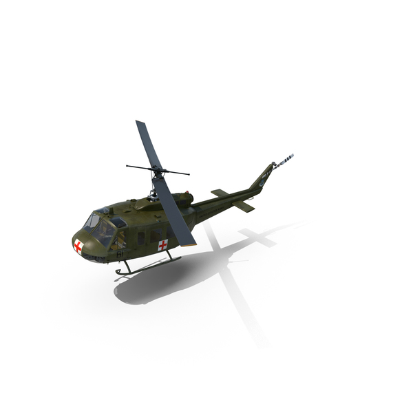 Military Transport Helicopter: Bell UH-1 Iroquois MedEvac PNG & PSD Images