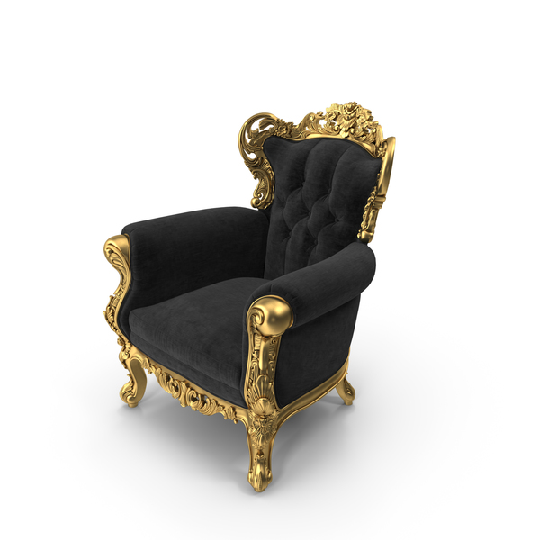 Belle de Fleur Baroque Chair PNG & PSD Images