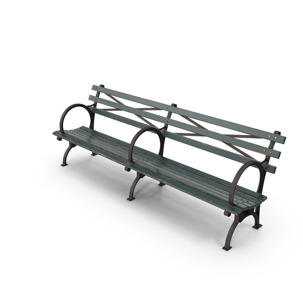 Bench Long Green PNG & PSD Images