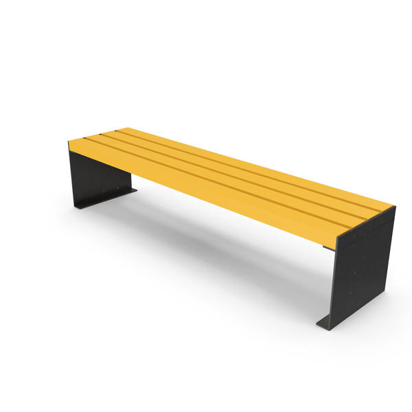 Bench Yellow PNG & PSD Images