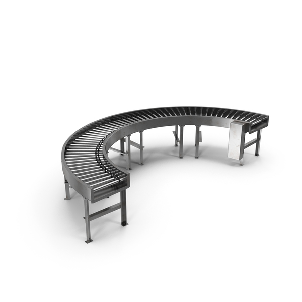 Bend Roller Conveyor Motorised PNG & PSD Images