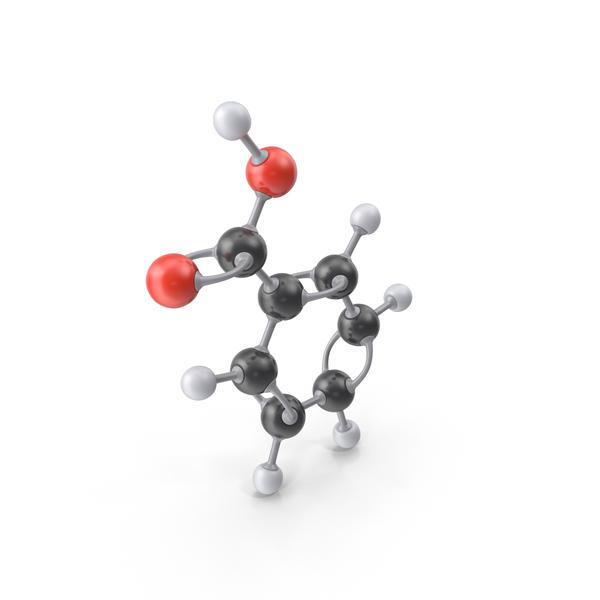 Benzoic Acid Molecule PNG & PSD Images