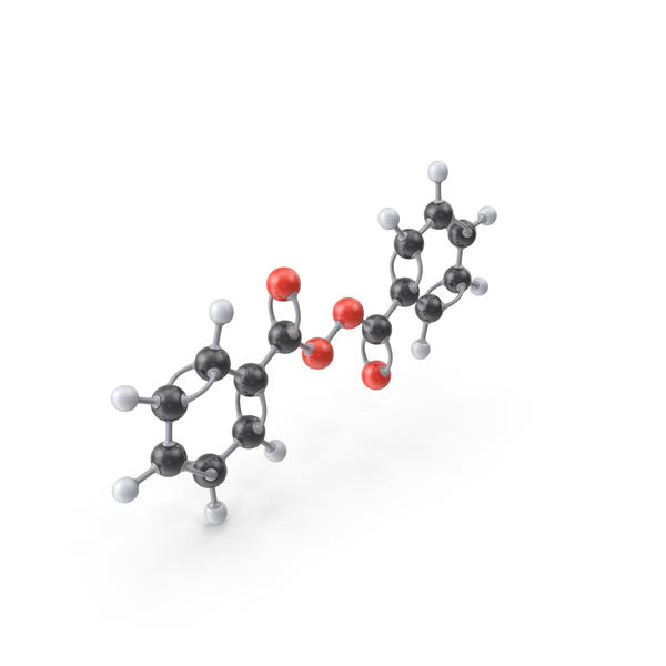 Benzoyl Peroxide Molecule PNG & PSD Images