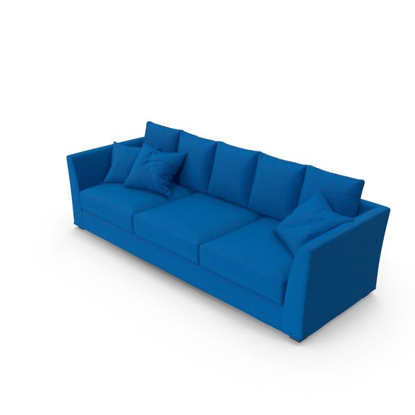 Berenson Blue Sofa PNG & PSD Images