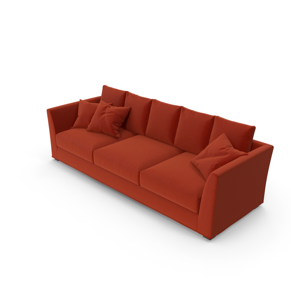 Berenson Red Sofa PNG & PSD Images