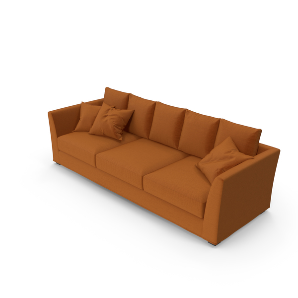 Berenson Sofa Orange PNG & PSD Images