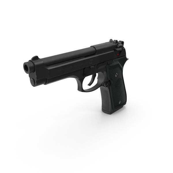 Beretta 92F Black PNG & PSD Images