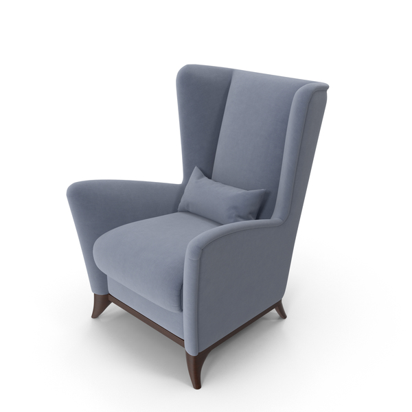 Bergamo High Wing Chair PNG & PSD Images