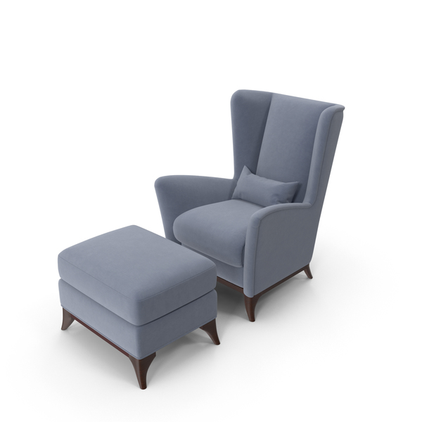 Bergamo High Wing Chair Set PNG & PSD Images