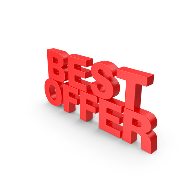 Best Offer 3D Text PNG & PSD Images