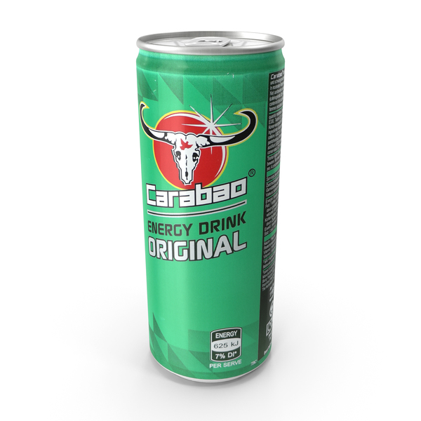 Beverage Can Carabao Energy Drink 330ml PNG & PSD Images