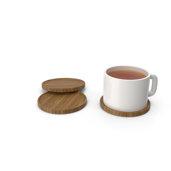 Beverage Coasters with Cup Tea PNG & PSD Images