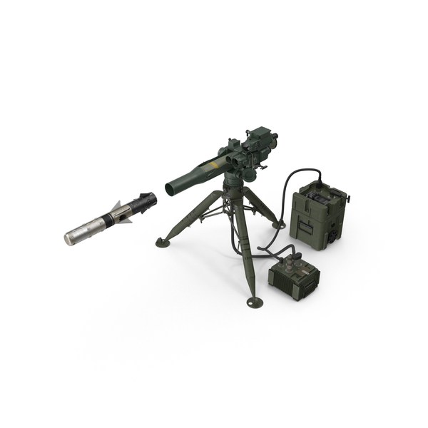 BGM 71F TOW Missile and Launcher PNG & PSD Images