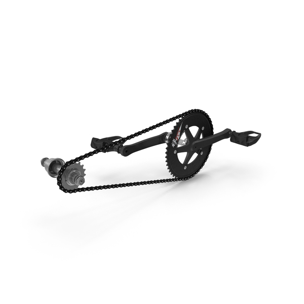 Bicycle Chain with Pedals PNG & PSD Images