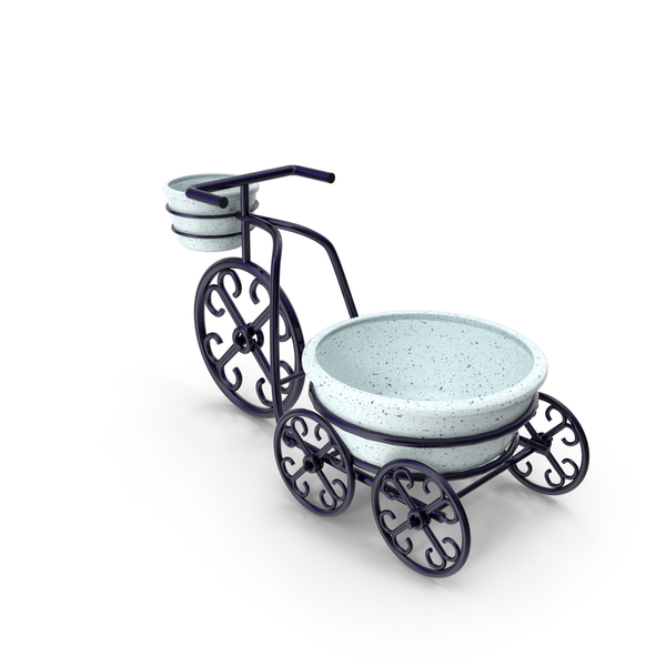 Bicycle Flower Pot Stands PNG & PSD Images