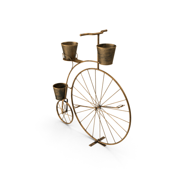 Flower Pot Support: Bicycle Plant Stand PNG & PSD Images