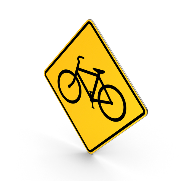 Bicycles Road Sign PNG & PSD Images