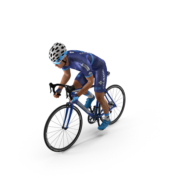 Bicyclist on Road Bike PNG & PSD Images