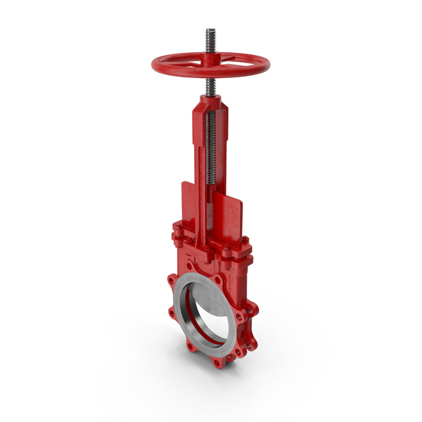 Bidirectional Knife Gate Valve Red PNG & PSD Images