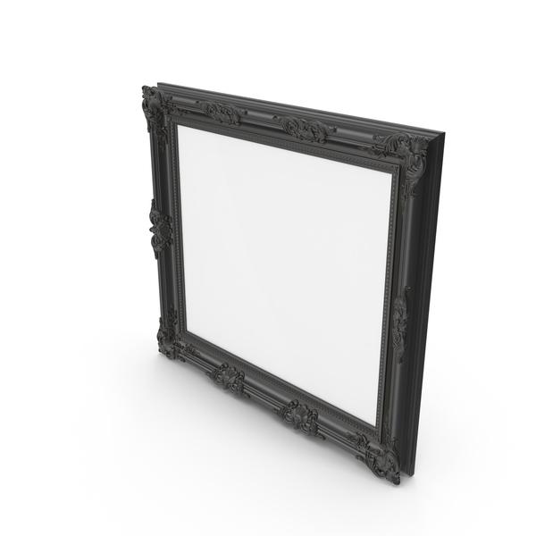 Big Black Baroque Picture Frame PNG & PSD Images