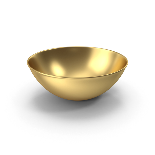 Big Gold Bowl PNG & PSD Images