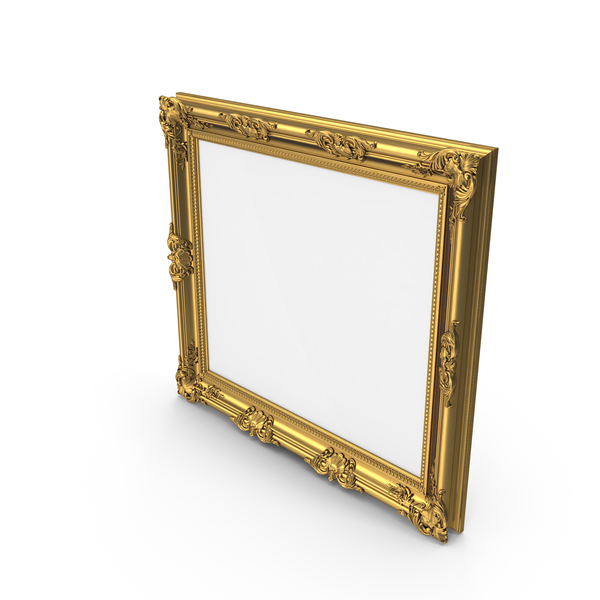 Big Golden Baroque Picture Frame PNG & PSD Images