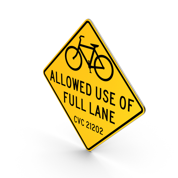 Bike Lane San Francisco Road Sign PNG & PSD Images