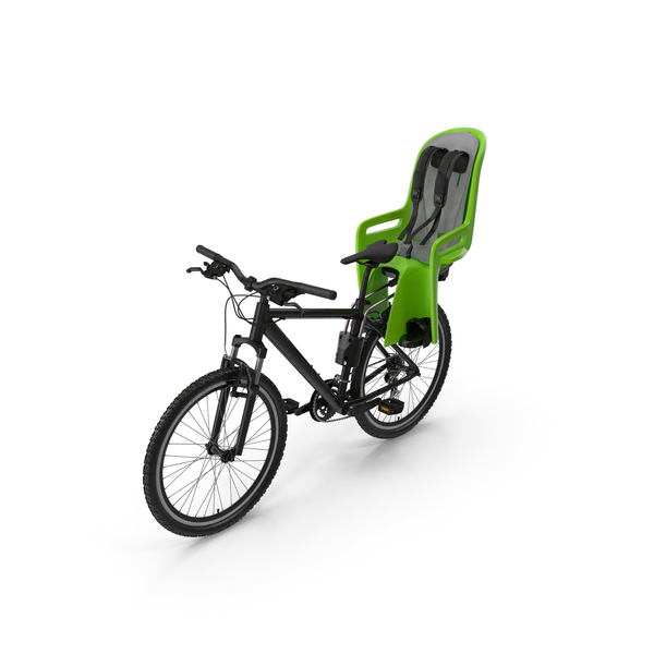 Bike with Child Safety Seat PNG & PSD Images