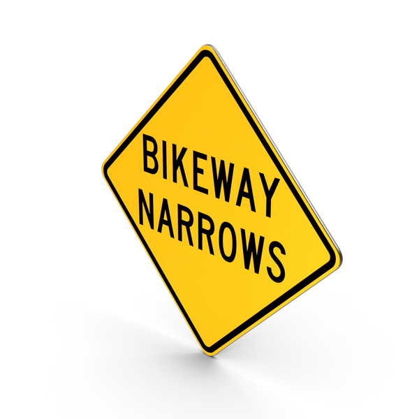 Bikeway Narrows Sign PNG & PSD Images