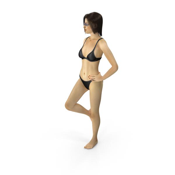 Woman: Bikini Girl Leaning PNG & PSD Images