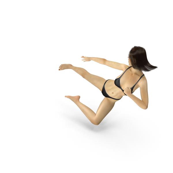 Woman: Bikini Girl Ninja Kick PNG & PSD Images
