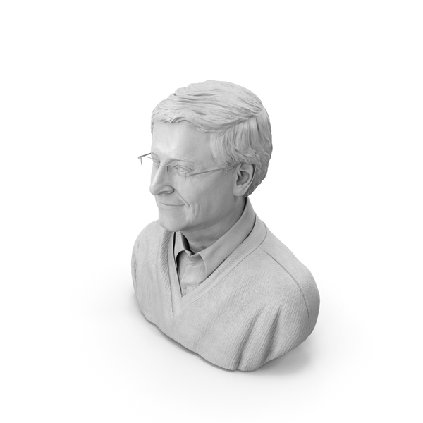 Bill Gates Bust PNG & PSD Images