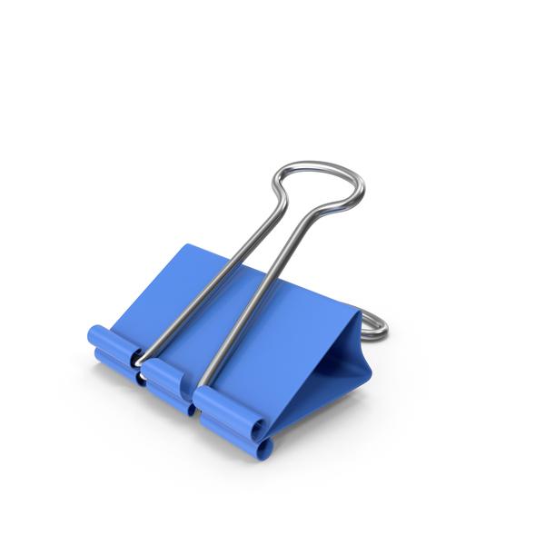 Binder Clip Blue PNG & PSD Images