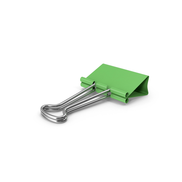 Binder Clip Green PNG & PSD Images