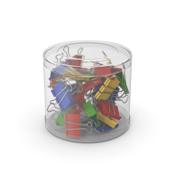 Office Supplies: Binder Clip Plastic Cup PNG & PSD Images