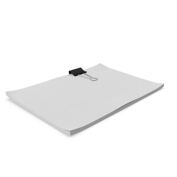 Office Supplies: Binder Clip Sheets PNG & PSD Images