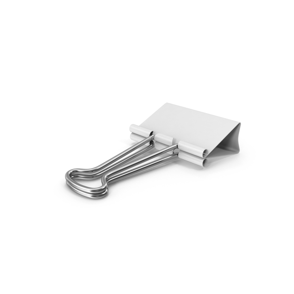 Binder Clip White PNG & PSD Images