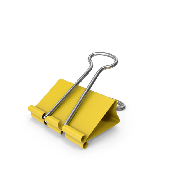 Binder Clip Yellow PNG & PSD Images