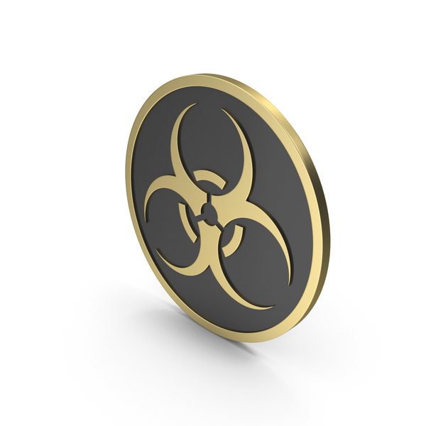 Biohazard Sign Gold Black PNG & PSD Images