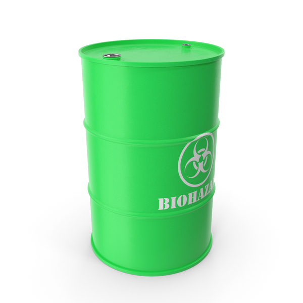 Biohazard Toxic Waste Barrel PNG & PSD Images