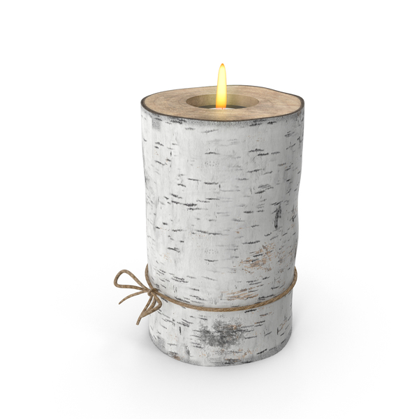 Birch Tree Candle Holder PNG & PSD Images