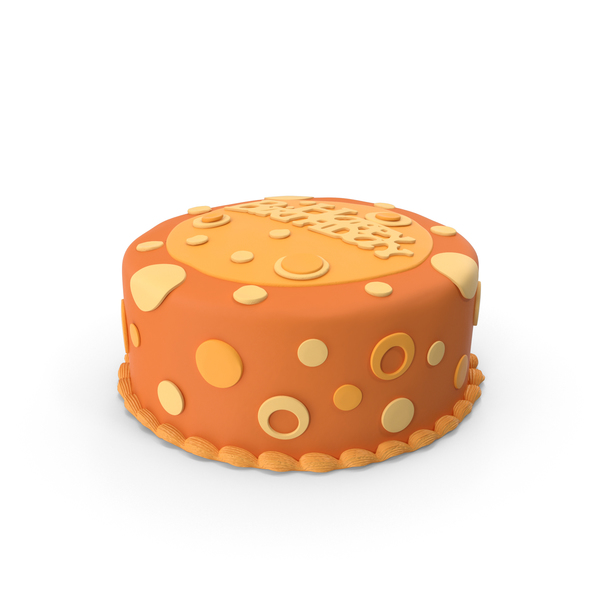 Birthday Cake Orange PNG & PSD Images
