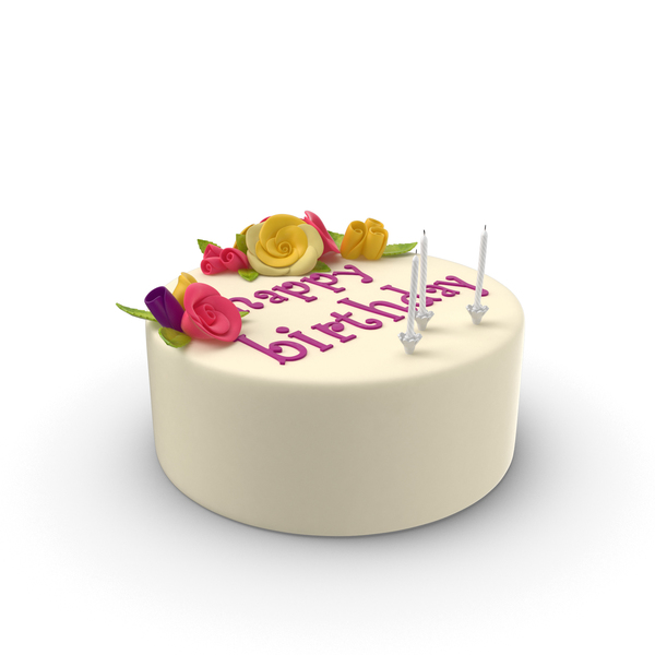 Birthday Cake with Candles Object