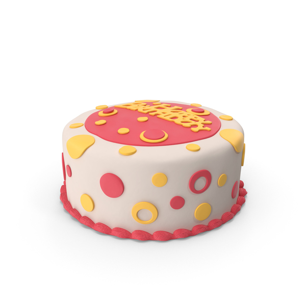 Birthday Cake Yellow PNG & PSD Images