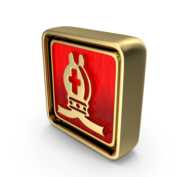 Bishop Icon Gold PNG & PSD Images