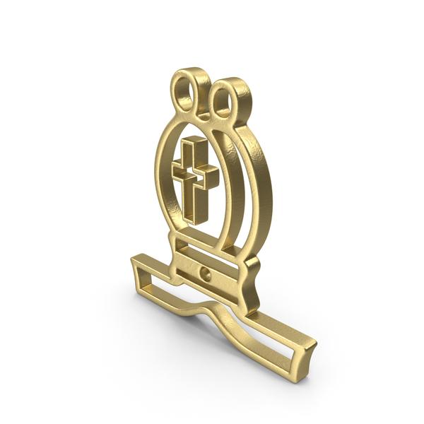 Bishop Logo Gold PNG & PSD Images