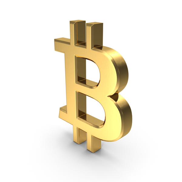 Currency Symbols: Bitcoin Symbol Gold PNG & PSD Images